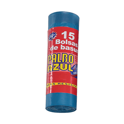 Sacs poubelles domestiques avec lien coulissant 55x60 Bleu G120 Palbo