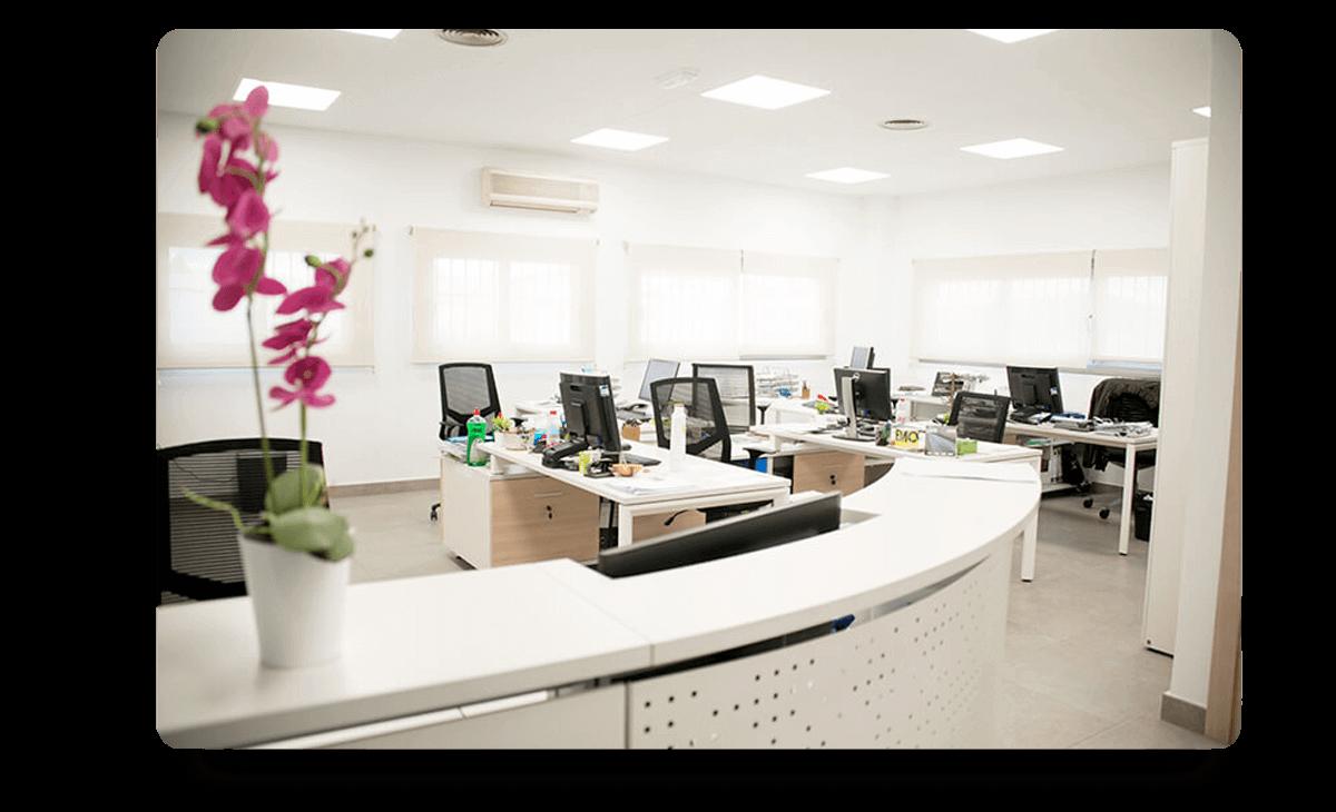 Recepción oficinas Grupo Soria