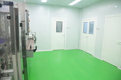 Clean room for the manufacture of personal hygiene products
