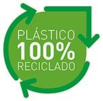 plástico 100% reciclado