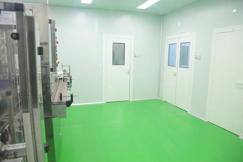 Sala blanca para la fabricación de productos cosméticos